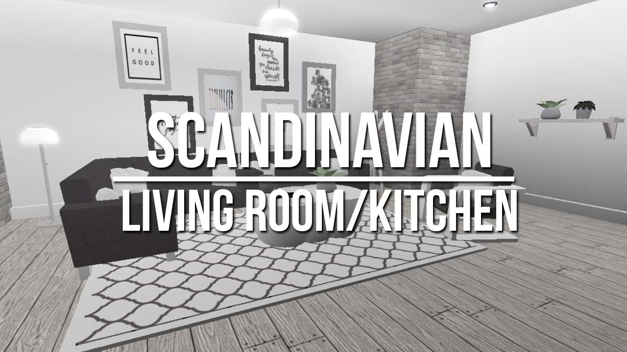 Roblox welcome to bloxburg scandinavian living room for Kitchen designs bloxburg