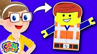 DIY Lego Character! ☀️Crafty Carol Crafts ☀️Crafts for Kids | Cool School