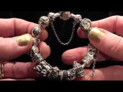 3415e4f0d My Pandora Bracelet: Two Tone Silver & 14k Gold - YouTube