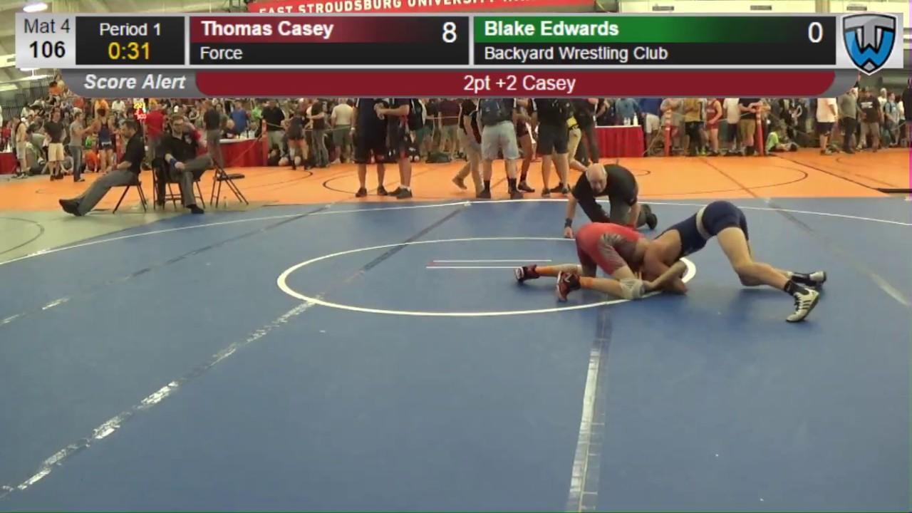 2016 junior men 106 thomas casey force vs blake edwards backyard
