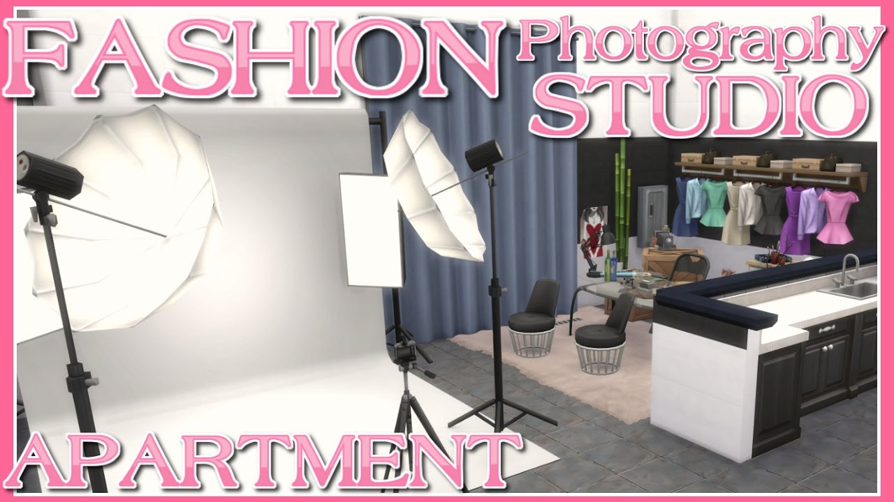 The Sims 4 // FASHION PHOTOGRAPHY STUDIO Apartment | SPEED BUILD (No CC)  910 Medina Studios