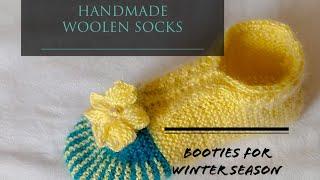 Handmade Woollen Socks / Booties #winter