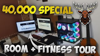 ROOM TOUR + FITNESS ROOM TOUR - 40,000 SUBS SPECIAL