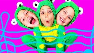 Пять лягушат | детские песенки для самых маленьких | от Ба Би Бу