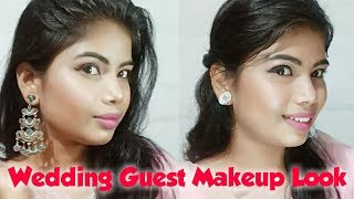 WEDDING GUEST MAKEUP | Indian Wedding Guest Makeup Look | Peachy Pink Look ❤