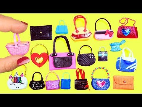 100+ Barbie Doll Miniature Purse, Handbag, Bag  Collection  - simplekidscrafts