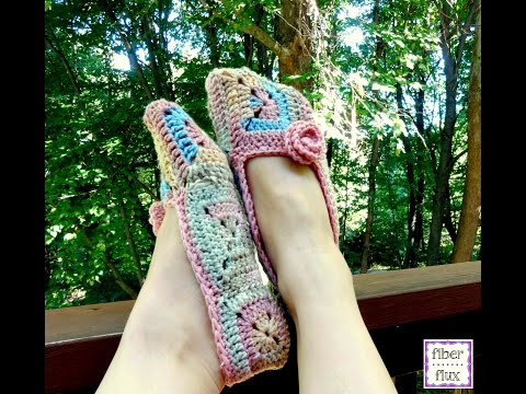 How To Crochet the Soft Blossom Slippers, Episode 227