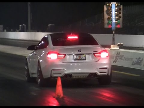 2015 BMW M4 Tuned Vs 2015 Corvette C7  - 1/4 mile Drag Race Video