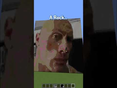 the rock in minecraft