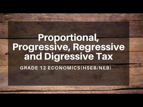 Proportional, Progressive, Regressive