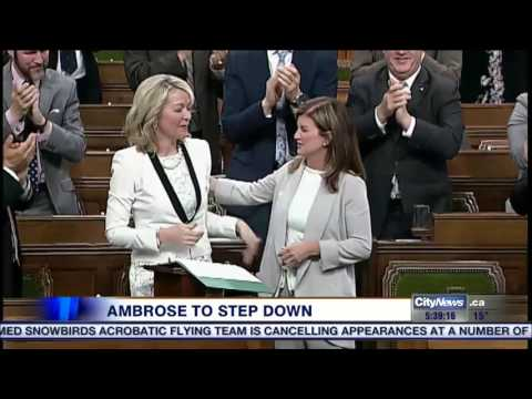 MPs pay tribute to Rona Ambrose in the House of Commons