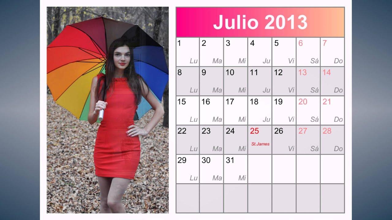 Los nuevos dise os de calendarios para 2013 youtube - Disenos de calendarios ...