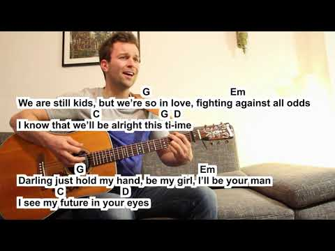 Ed Sheera Perfect (Cover) small easy Guitar Lesson Tutorial (How to play) lyrics & chords