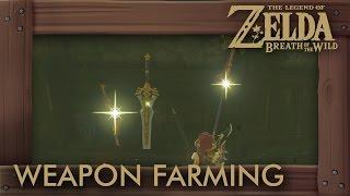 Zelda Breath of the Wild - How to Farm Weapons in Hyrule Castle