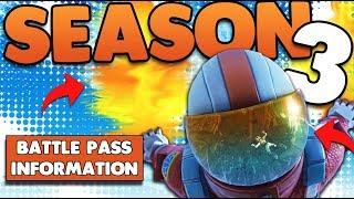 Season 3 Battle Pass | Skydiving FX Trails, New Cosmetics , Back Bling | Fortnite Battle Royale