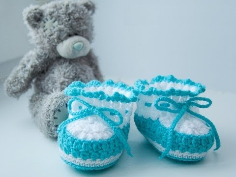 Youtube Crocheting For Beginners : how to crochet baby booties for beginner - YouTube