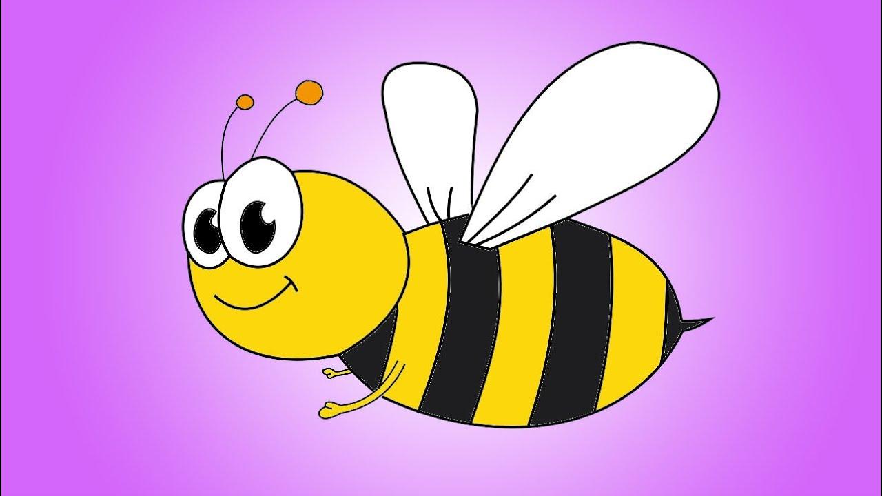 Картинки пчелка нарисованная
