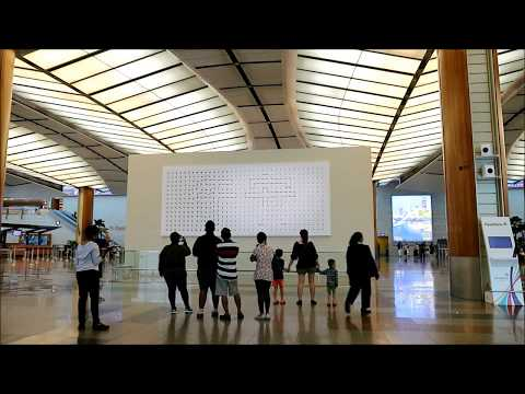 A Million Times Clock at Changi Airport Singapore