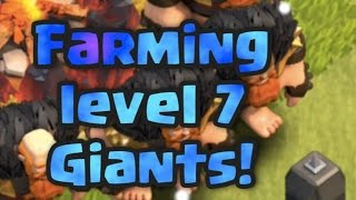 Farming level 7 Giants   Jumping Giant Clash of Clans madness   CoC Giants, Witch and Wiz