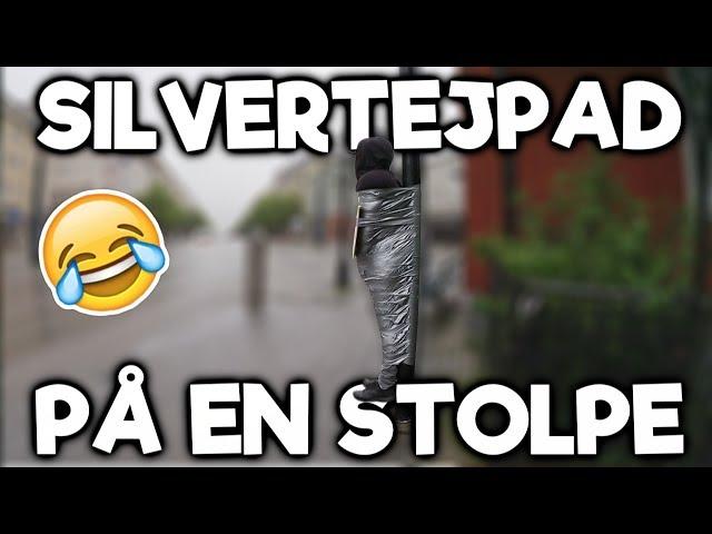 Silvertejpad på en STOLPE!