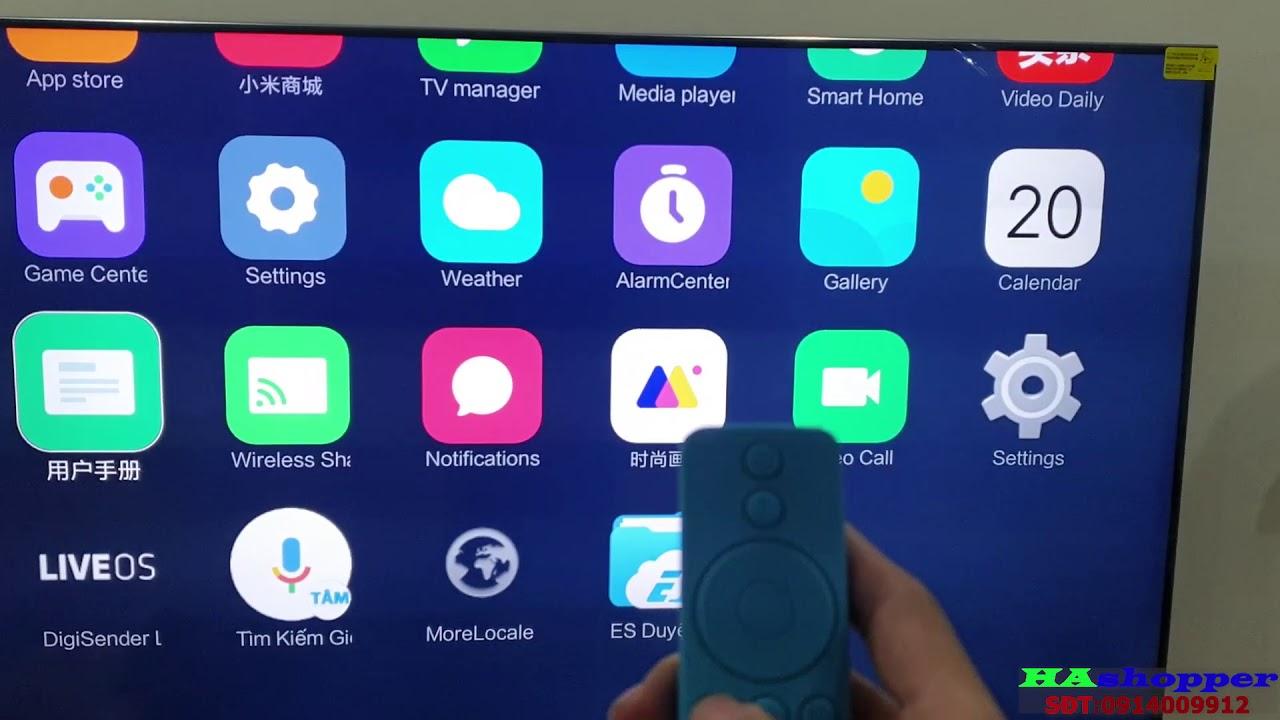 Khắc phục lỗi không tự động mở giao diện trên tivi xiaomi mới ra ES/tv5/tv5 pro
