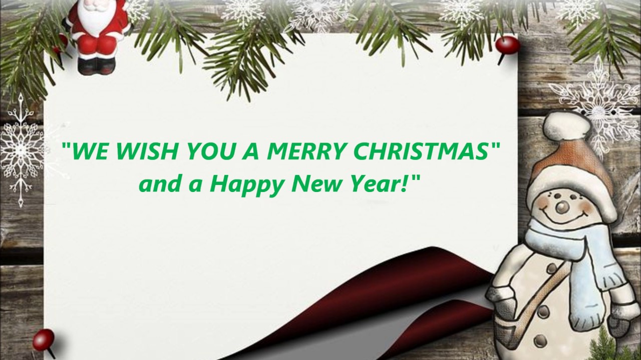 WE WISH YOU A MERRY CHRISTMAS Ecard Ecards Holiday song Eco Free ...