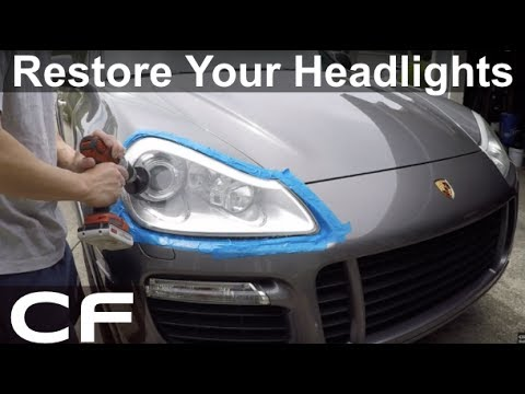 How to Restore Headlights Permanently , DIY Tutorial on Porsche Cayenne  Turbo