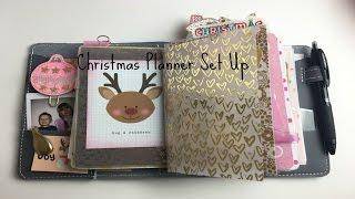 a6 christmas traveler s notebook set up december 2016 pink planner girl