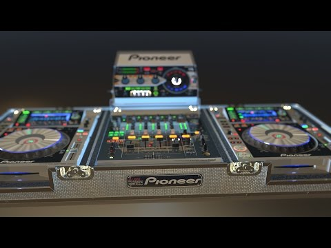 DJ-Pro WorkStation Flight Case in Cinema 4D