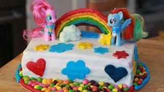 Tort tęczowy My little pony