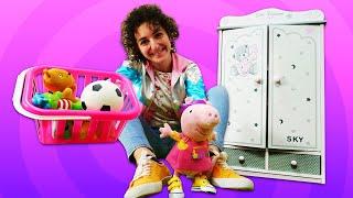 La passeggiata con Peppa Pig. Video divertente per bambini.