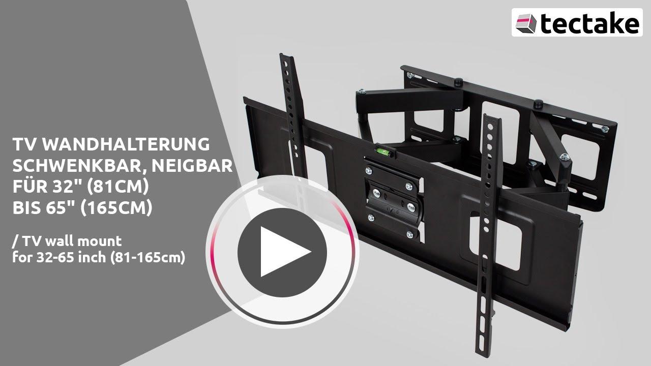 passende tv wandhalterungen f r fernseher tectake youtube. Black Bedroom Furniture Sets. Home Design Ideas