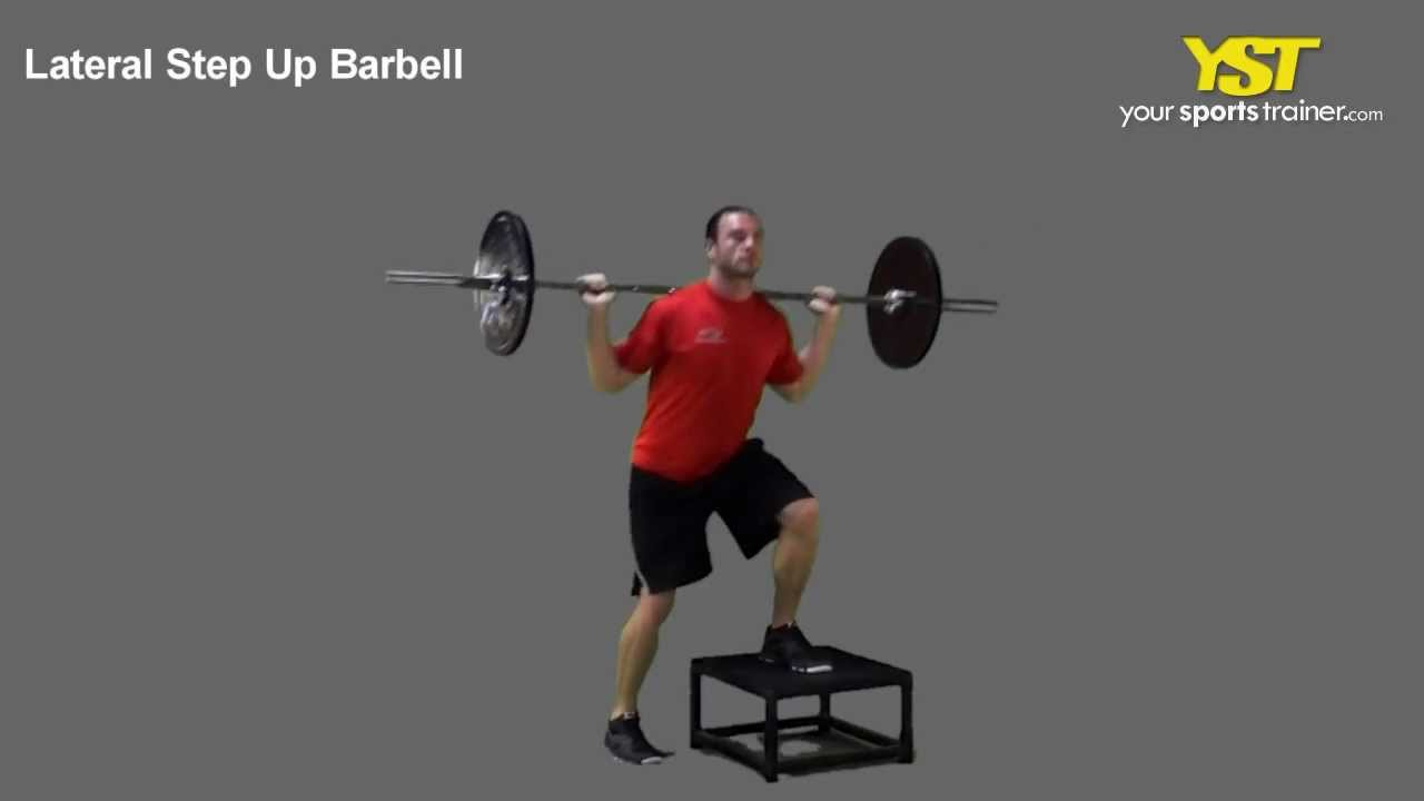Lateral Step Up Barbell - YouTube