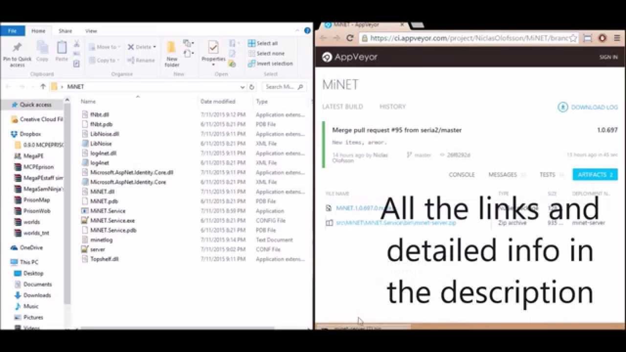 MiNET quick windows tutorial