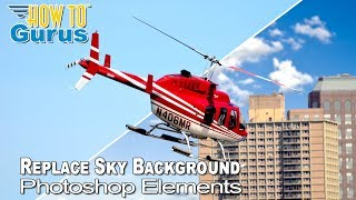 how to change a sky background in adobe photoshop elements 15 14 13 12 11 tutorial