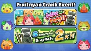 Yo-Kai Watch Wibble Wobble - FRUITNYAN EVENT + HUGE Crank-a-Kai Party!