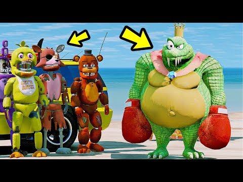 ANIMATRONICS PODEM FUGIR DO REI DOS CROCODILOS? | GTA V Five Nights at Freddy's thumbnail