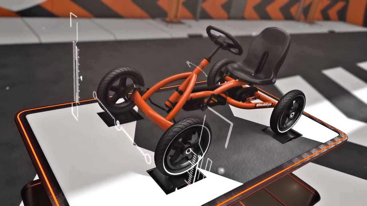 kart a pedales coches a pedales berg buddy orange youtube. Black Bedroom Furniture Sets. Home Design Ideas