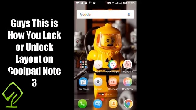 How To Lock Or Unlock Layout On Coolpad Note 3 Or Coolpad Note 3