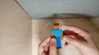 как сделать Стива и Крипера из игры Майнкрафт лего