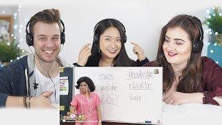Foreigners React to Learning English with Teacher Phensri | ซับไทย ครูเพ็ญศรีสอนภาษาอังกฤษ