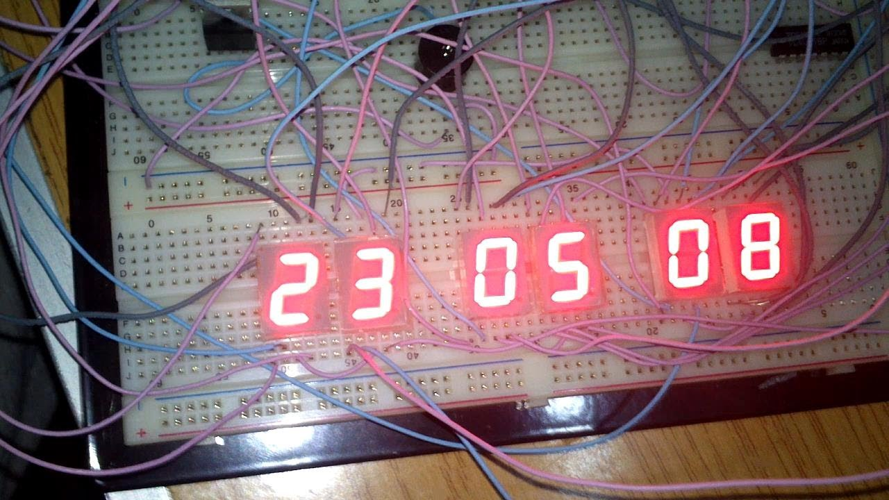 Stopwatch Project Full Hhmmss Led Chasing Circuit Using At89c2051 Microcontroller