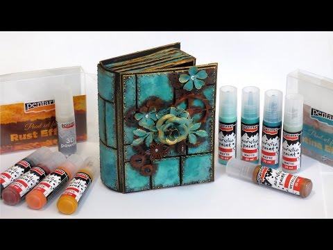 Díszes könyvdoboz, altered art stílusban // Altered art style book box