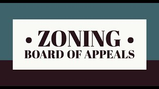 Virtual Zoning Board of Appeals Virtual Special Meeting and Public Hearing of September 24, 2020