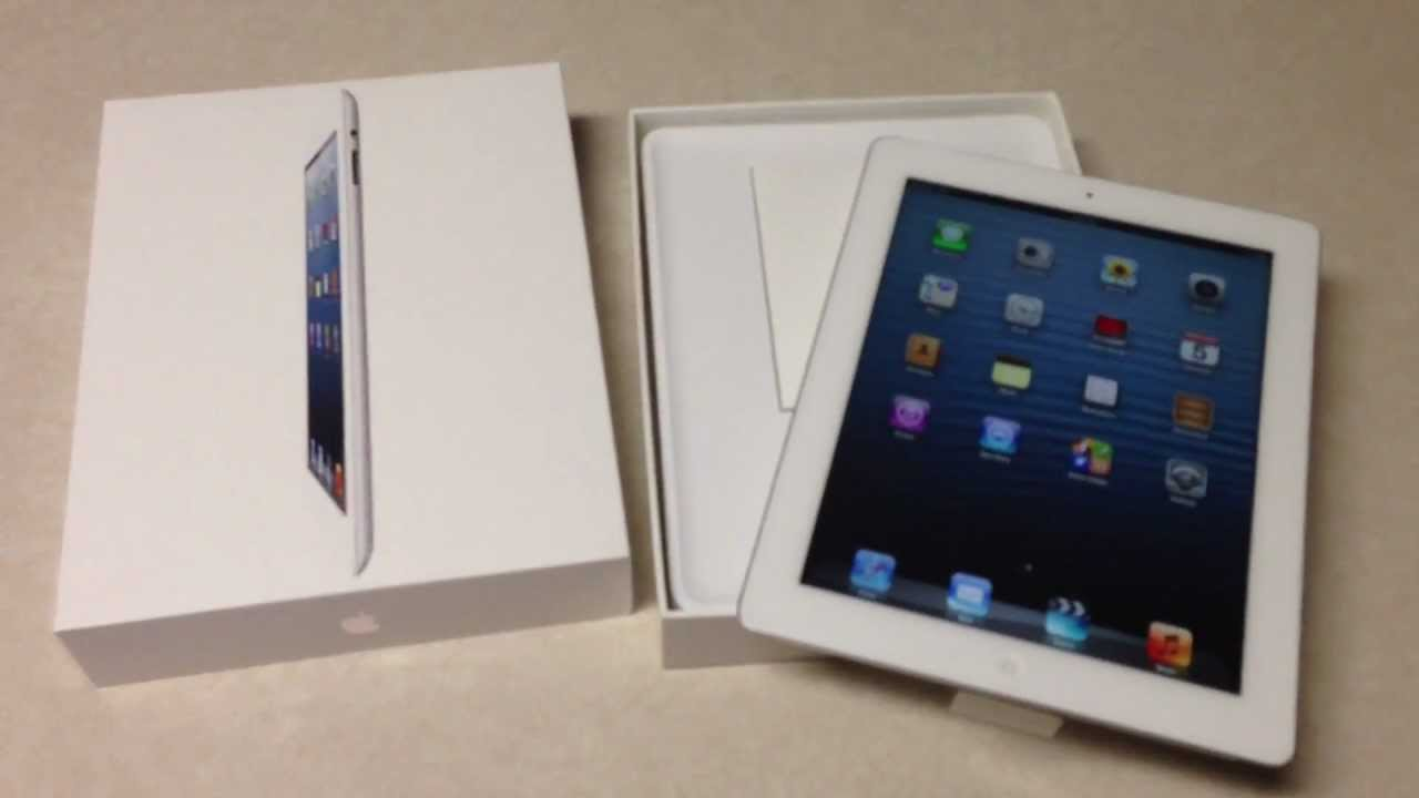 new ipad 4 unboxing lte 32gb at t youtube. Black Bedroom Furniture Sets. Home Design Ideas