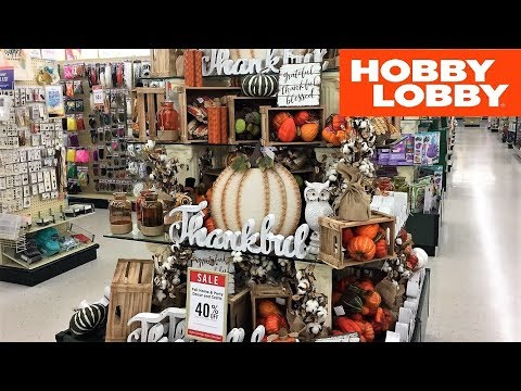 HOBBY LOBBY FALL DECOR THANKSGIVING HOME DECOR SHOP WITH ME SHOPPING STORE WALK THROUGH 4K