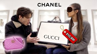 Buying EVERYTHING My Girlfriend Touches Blindfolded!!