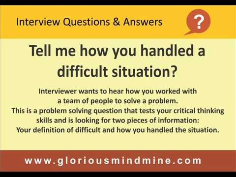 Job interview questions & answers - best answer for freshers and