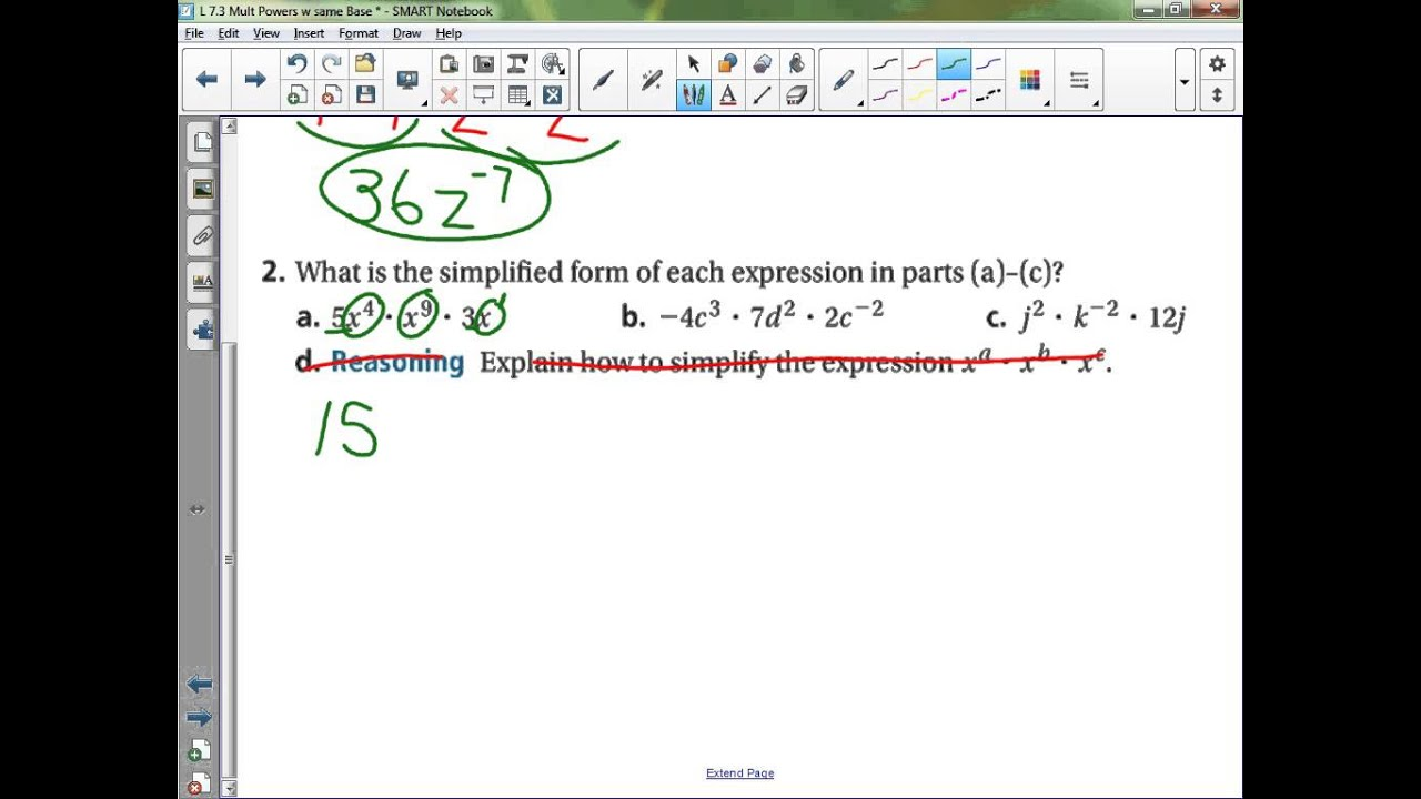 Algebra 1 Lesson 73 Multiplying Powers with the Same Base YouTube – Multiplying Powers with the Same Base Worksheet