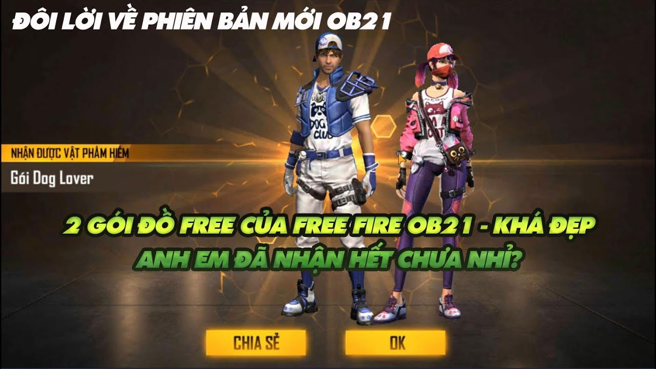 Garena Free Fire| Nhận 2 bộ đồ mới free khá đẹp của Free Fire OB21 – anh em có hết chưa